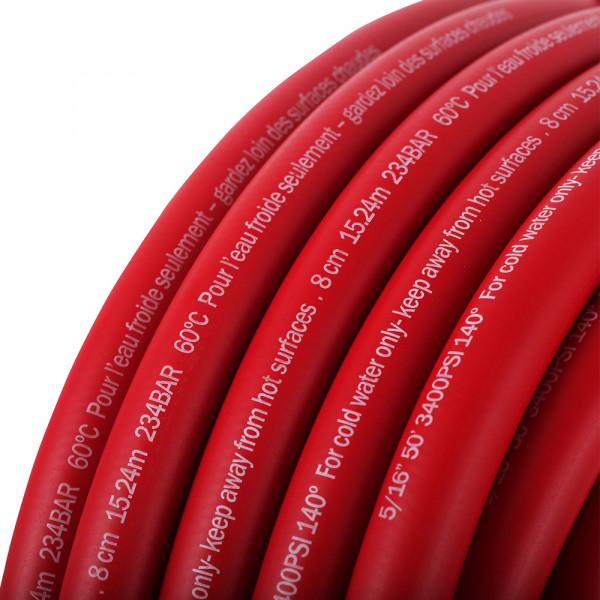High Pressure Washing Hose red